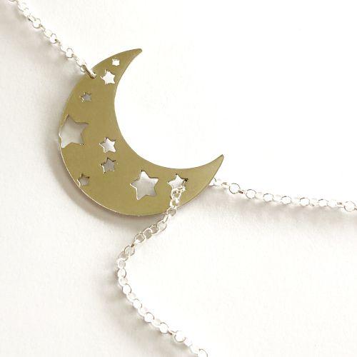 MR Milagro Rousse Collar con luna