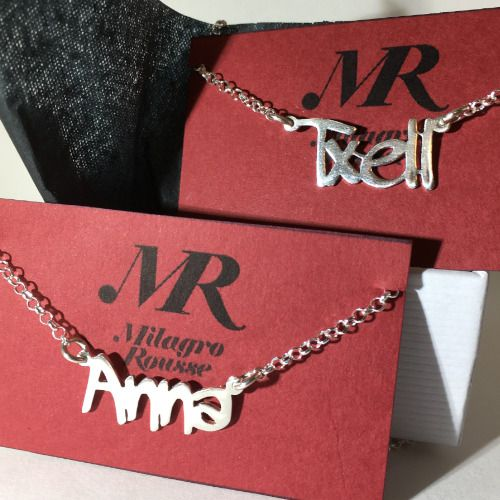 MR Milagro Rousse Collar de Plata con Nombre