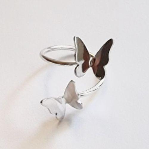 Anillo de Mariposas de Plata MR Milagro Rousse