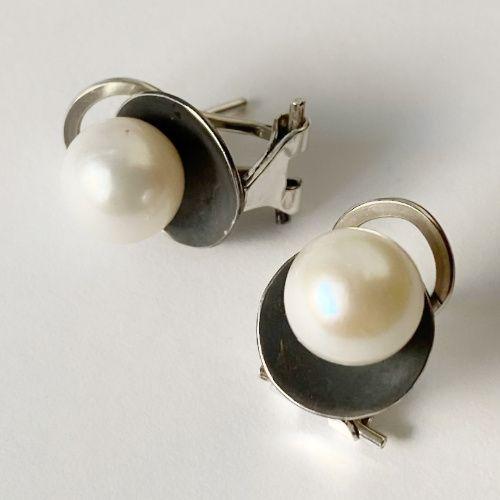 Pendientes Perlas en base de plata MR Milagro Rousse