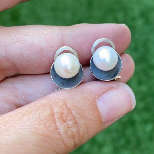 Pendientes Perlas y plata MR Milagro Rousse