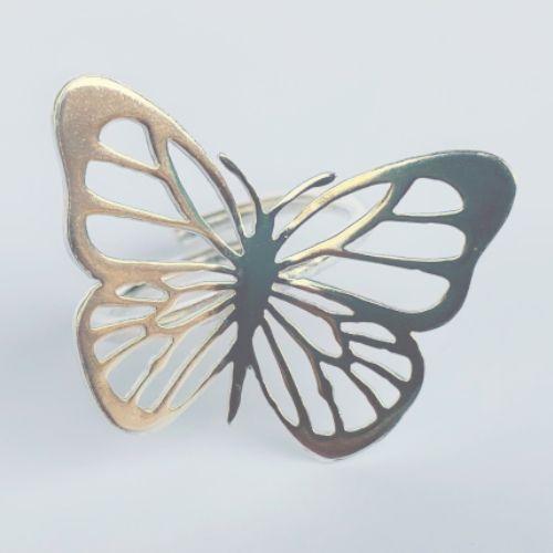 Anillo ajustable con Mariposa MR Milagro Rousse