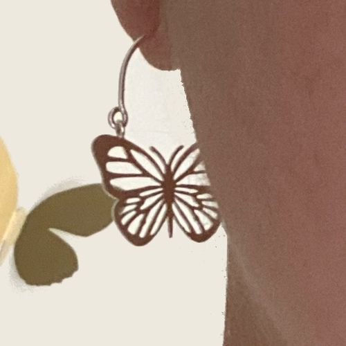 Pendientes Aro de Mariposa en Plata MR Milagro Rousse