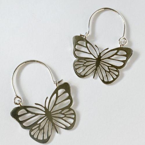 Pendientes de Aro de Mariposas Grandes MR Milagro Rousse